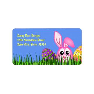 Étiquettes de adresse de retour de Med de Pâques