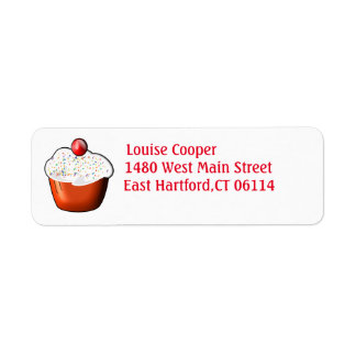 Étiquettes de adresse de retour de petit gâteau