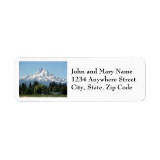 Étiquettes de adresse de retour de photo de capot
