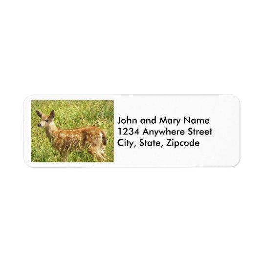 Étiquettes de adresse de retour de photo de faon