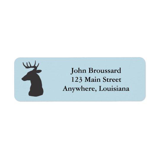 Étiquettes de adresse de retour de tête de cerfs