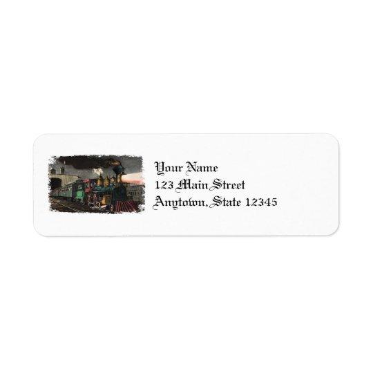 Étiquettes de adresse de retour de train rapide de