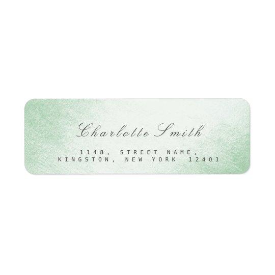 Étiquettes de adresse de retour de vert de menthe