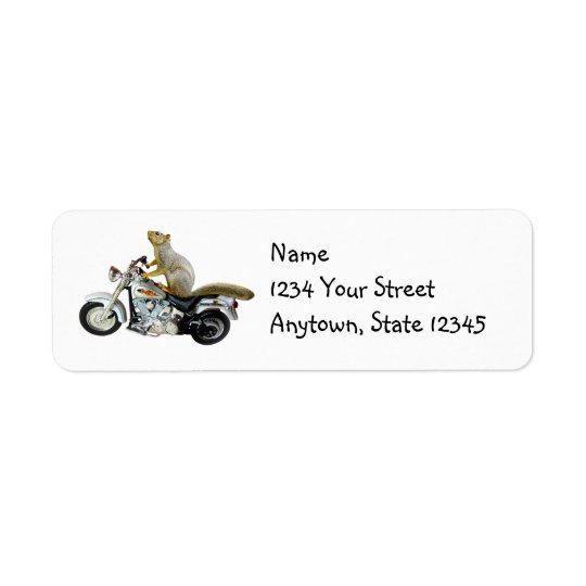 Étiquettes de adresse de retour d'écureuil de moto