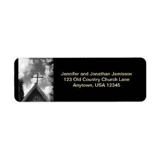 Étiquettes de adresse de retour d'église de mère