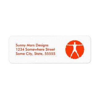 Étiquettes de adresse de retour d'homme de étiquettes d'adresse retour