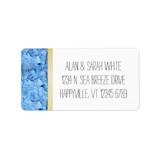 Étiquettes de adresse de retour d'hortensia de