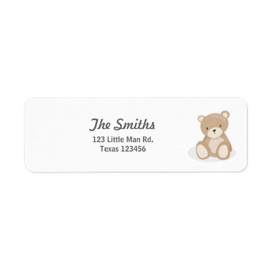 Étiquettes de adresse de retour d'ours de nounours