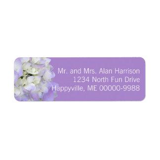 Étiquettes de adresse de retour floraux étiquette d'adresse retour