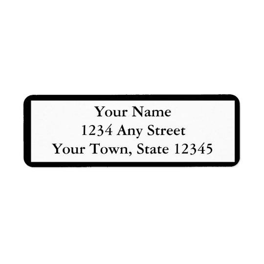 Étiquettes de adresse de retour imprimés par noir