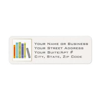 Étiquettes de adresse de retour Livre-Orientés