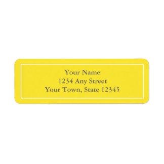 étiquettes de adresse de retour Pré-imprimés Étiquette D'adresse Retour