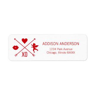 Étiquette Étiquettes de adresse de symboles de Valentine de