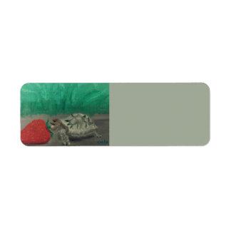 Étiquettes de adresse de tortue et de fraise