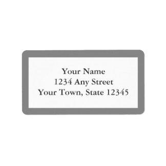Étiquettes de adresse d'enveloppe Pré-imprimés par
