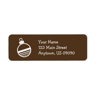 Étiquettes de adresse d'ornement d'arbre de Noël