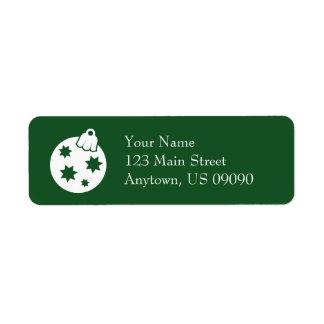 Étiquettes de adresse d'ornement de boule de Noël