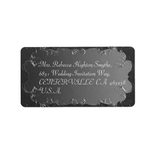 Étiquettes de adresse élégants de gris et de noces