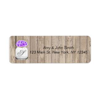 Étiquettes de adresse en bois hyd3 de mariage de