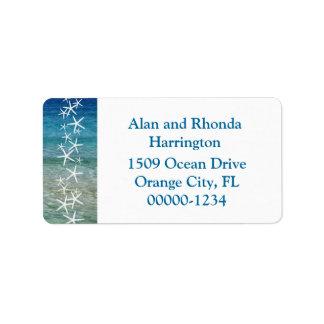Étiquettes de adresse faits sur commande tropicaux