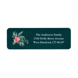 Étiquettes de adresse floraux de retour de joie