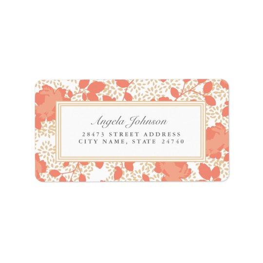 Étiquettes de adresse floraux fleuris