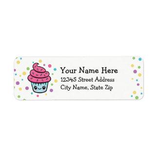 Étiquettes de adresse heureux de retour de petit