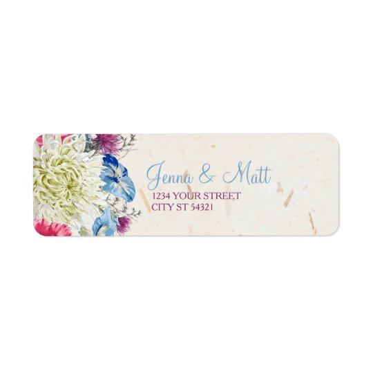 Étiquettes de adresse merveilleux de fleurs