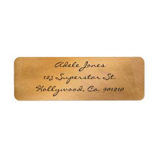 Étiquettes de adresse métalliques de cuivre
