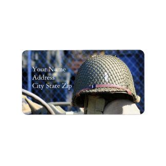 Étiquettes de adresse militaires de casque