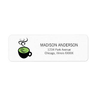 Étiquettes de adresse parfaits d'amour de Matcha