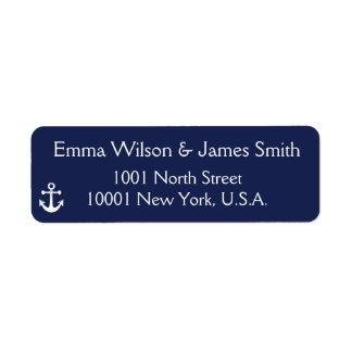 Étiquettes de adresse personnalisés nautiques de