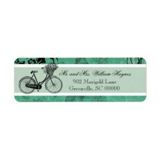 Étiquettes de adresse personnalisés par bicyclette