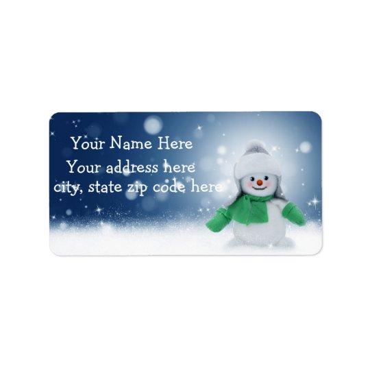 Étiquettes de adresse personnalisés par bonhomme