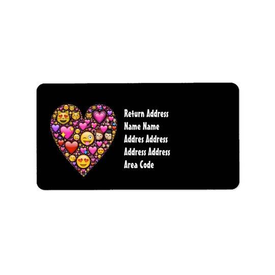 Étiquettes de adresse personnalisés par noir rose
