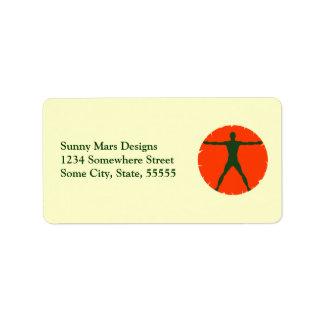 Étiquettes de adresse personnels d'entraîneur de étiquettes d'adresse