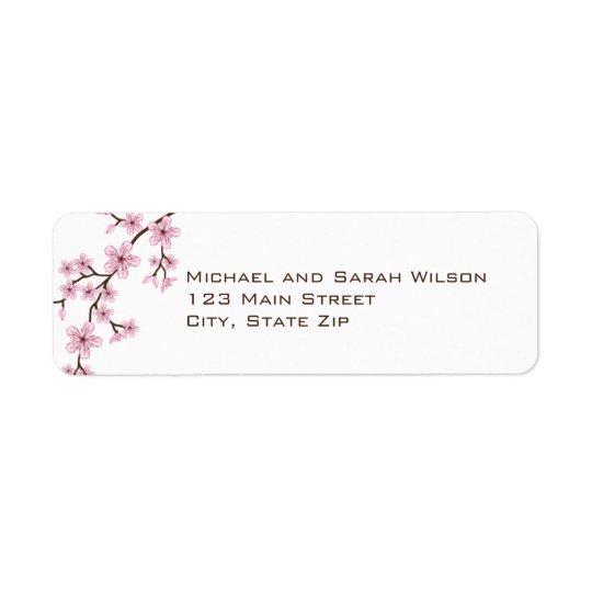 Étiquettes de adresse roses de retour de fleurs de