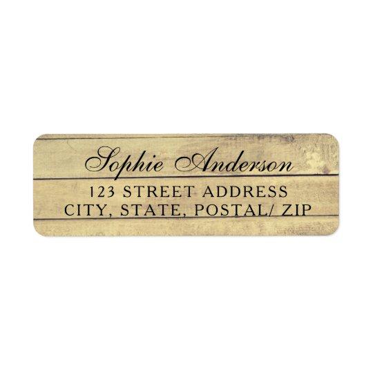 Étiquettes de adresse vintages rustiques de retour