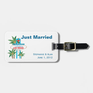 Étiquettes de bagage de mariage de scène de Las Étiquettes Bagages