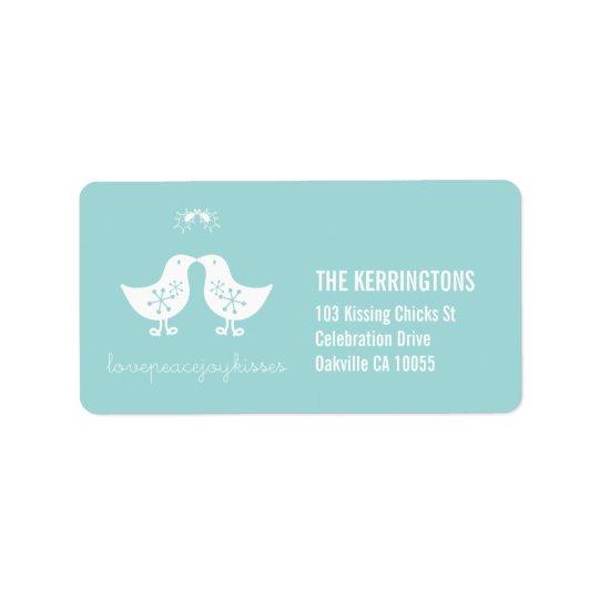 étiquettes de baiser de vacances de poussins de