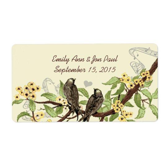 Étiquettes de branche fleurissants de jaune