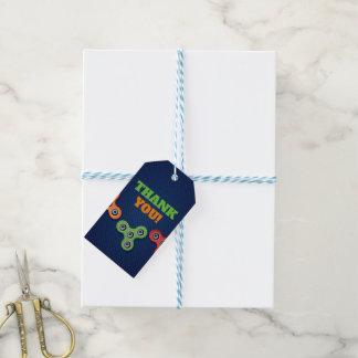 Étiquettes de cadeau d'anniversaire de fileur de