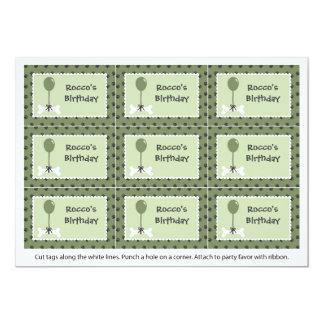 Étiquettes de cadeau de chien d'os et de ballon carton d'invitation  12,7 cm x 17,78 cm