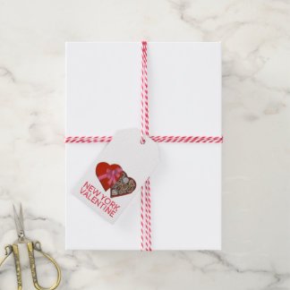 Étiquettes de cadeau de coeur de chocolat de New