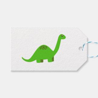 Étiquettes de cadeau de dinosaure