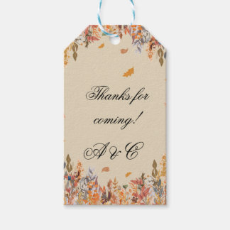 Étiquettes de cadeau de mariage de automne