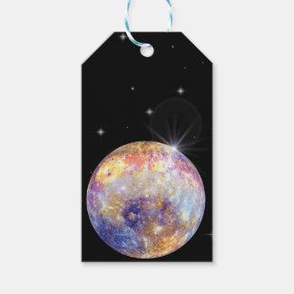 Étiquettes de cadeau de Mercury de planète