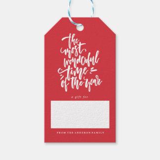 Étiquettes de cadeau de Noël de vacances de JOYEUX