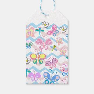 étiquettes de cadeau de papillon