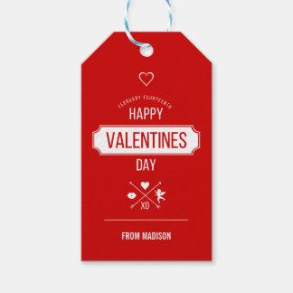 Étiquettes-cadeau Étiquettes de cadeau de symboles de Valentine de